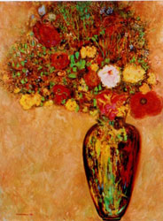 Odilon's Flowers, Painting by Tim Darnell